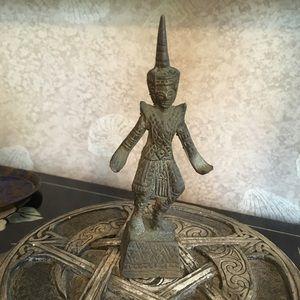 Vintage Tibetan Brass Figurine